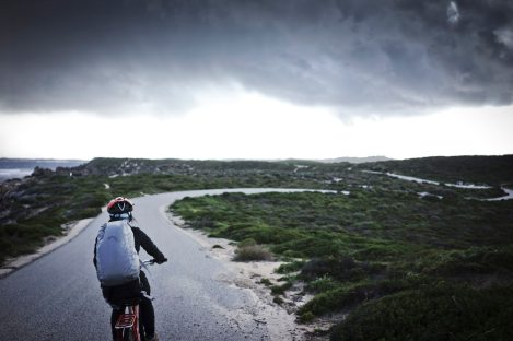 cycling red bike